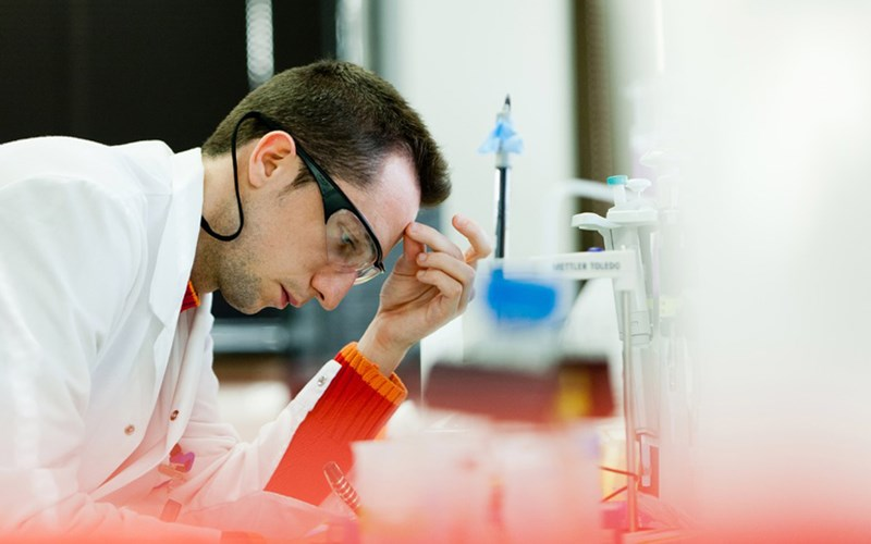 A scientist working at the Tres Cantos Research and Development facility in Spain