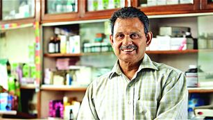 Pharmacist in a pharmacy, India