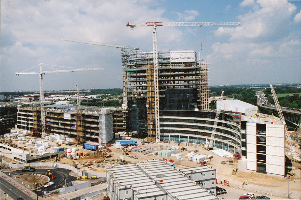 GSK house being built GSK today 2000